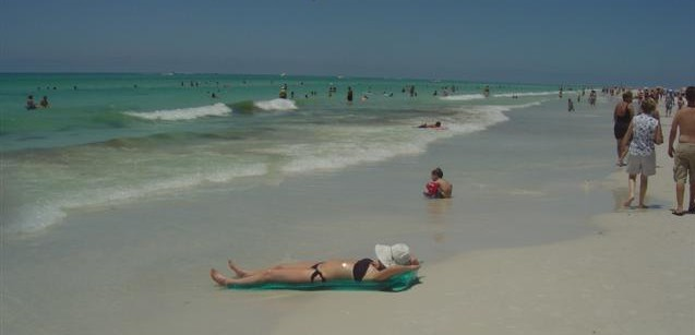 Siesta Key Beach shoreline